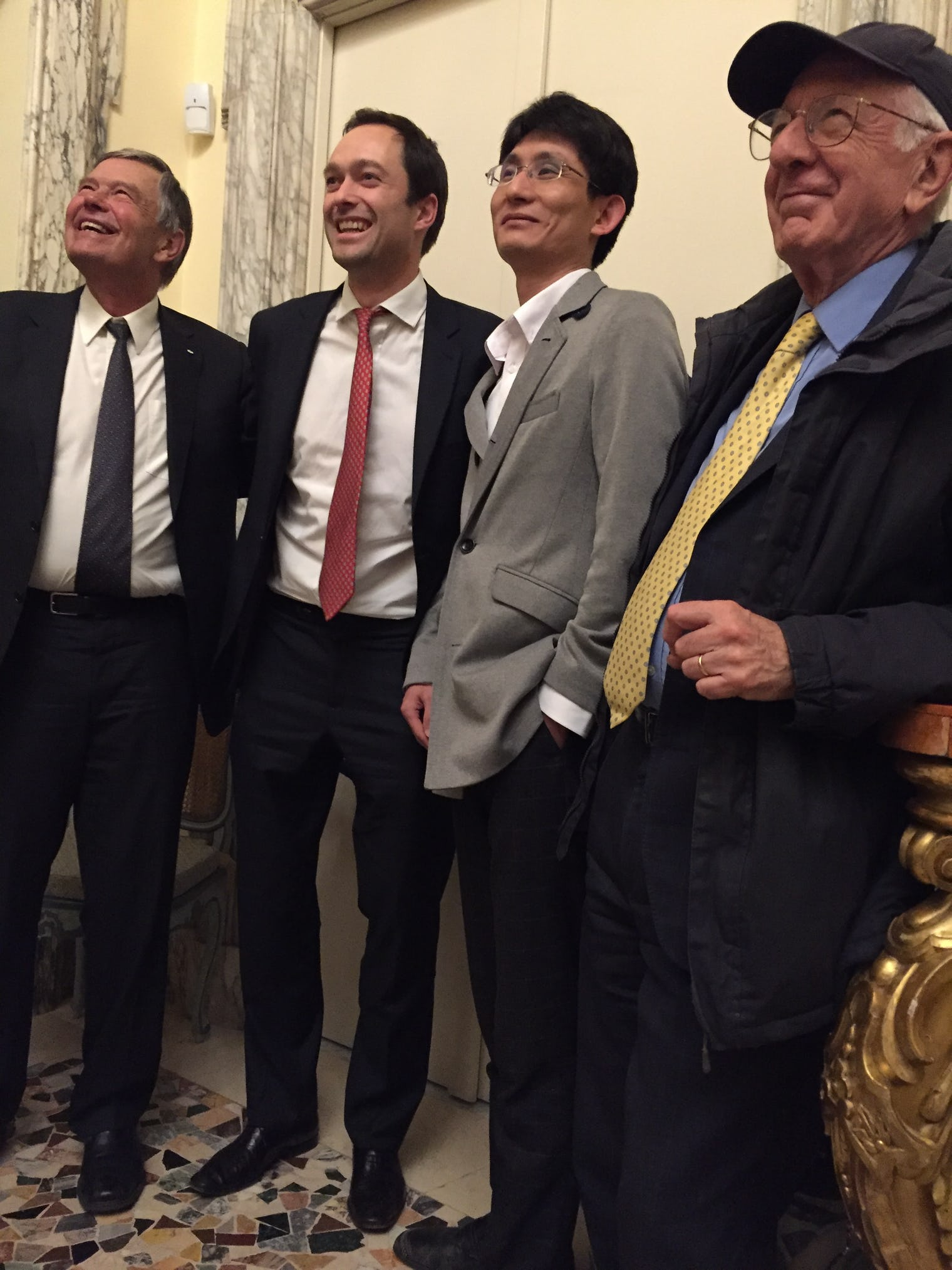 The authors of the upcoming World Happiness Report: John Helliwell, Jan-Emmanuel De Neve, Shun Wang, and Richard Layard.World Happiness Report