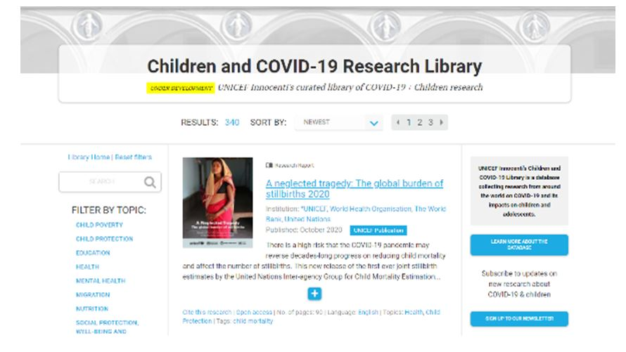 Children and COVID-19 library